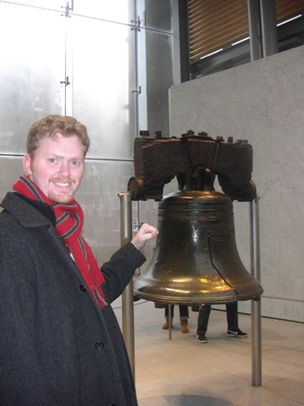 Allen knocks on Liberty Bell